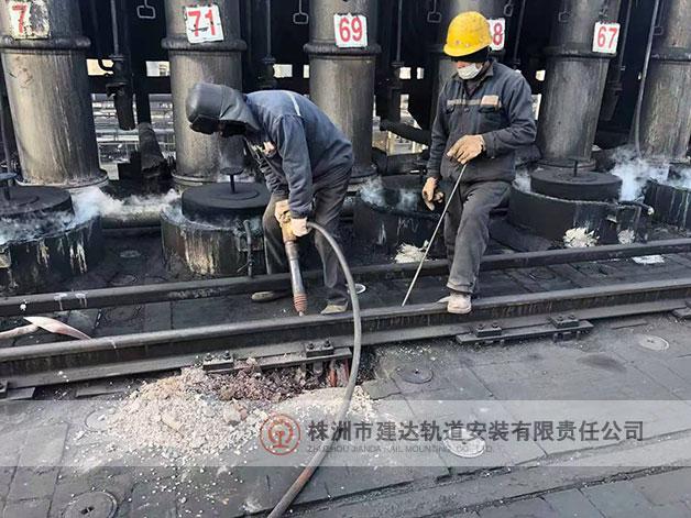 不停工轨道焊接施工现场之基础改造